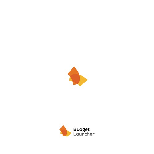 Budget design with the title 'Budget Launcher Logo'