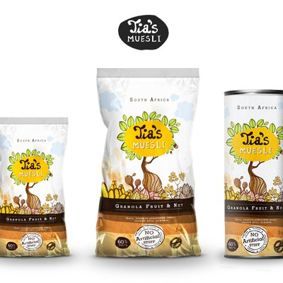 Tia's Muesli Packaging design