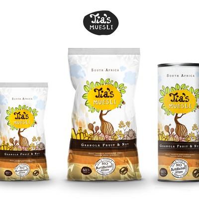 Tia's Muesli Packaging design