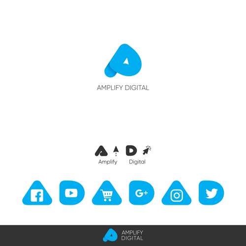 Digital marketing logo with the title 'Concept for Amplify Digital'
