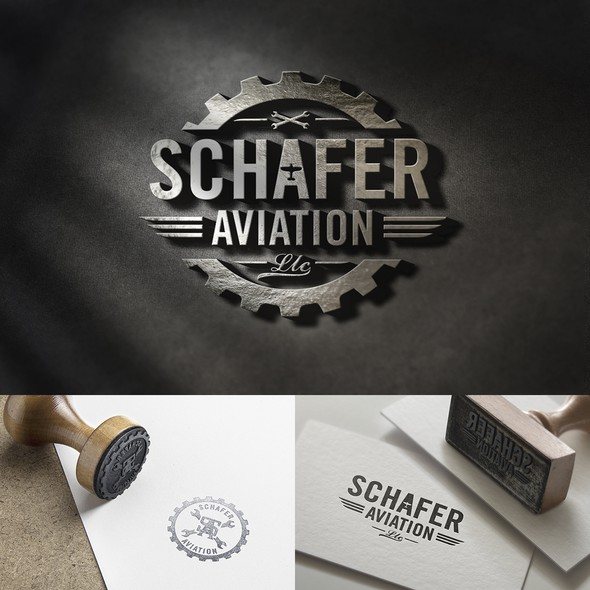 Airplane brand with the title 'Vintage Style Aviation Theamed Logo'