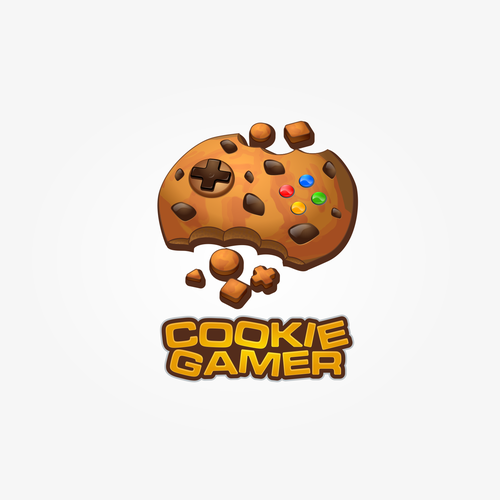 Cookie logo with the title 'Logo for Cookie Gamer'