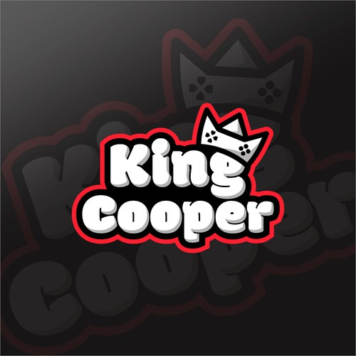 Joystick logo with the title 'king cooper logo'