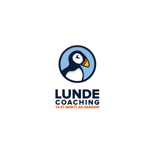 Penguin design with the title 'Logo for Lunde Coaching'