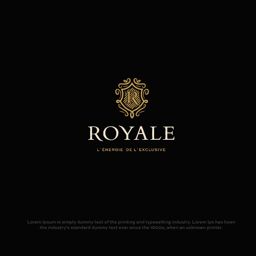 Energy drink logo with the title 'Royale'