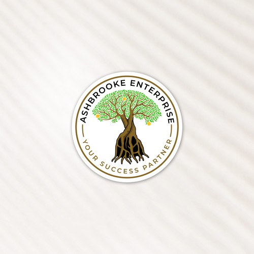 Roots brand with the title 'ASHBROOKE ENTERPRISE'
