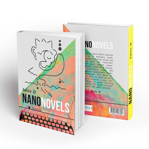 Lively design with the title 'Quirky book cover design proposal'