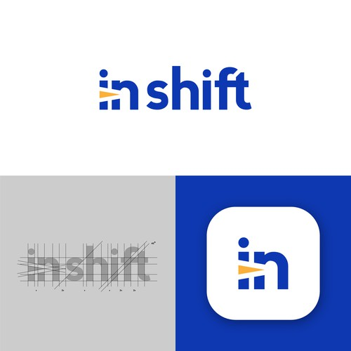 Compass brand with the title 'The modern logo concept for Inshift tech.'