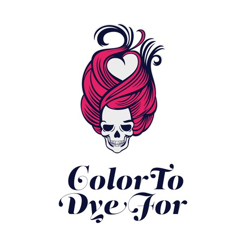 Hair extension logo with the title 'Color To Dye For - logo design'