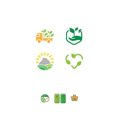 Organic shop icons