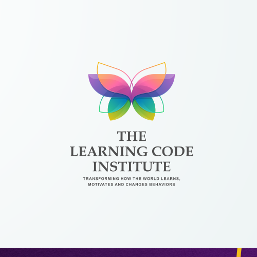 Monarch butterfly logo with the title 'Vibrant logo for Learning, Motivation and Behavioral Transformation Company'
