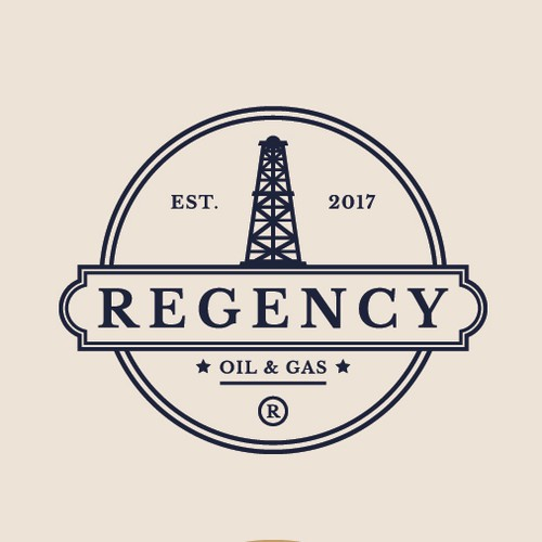 Oil and gas logo with the title 'Regency'