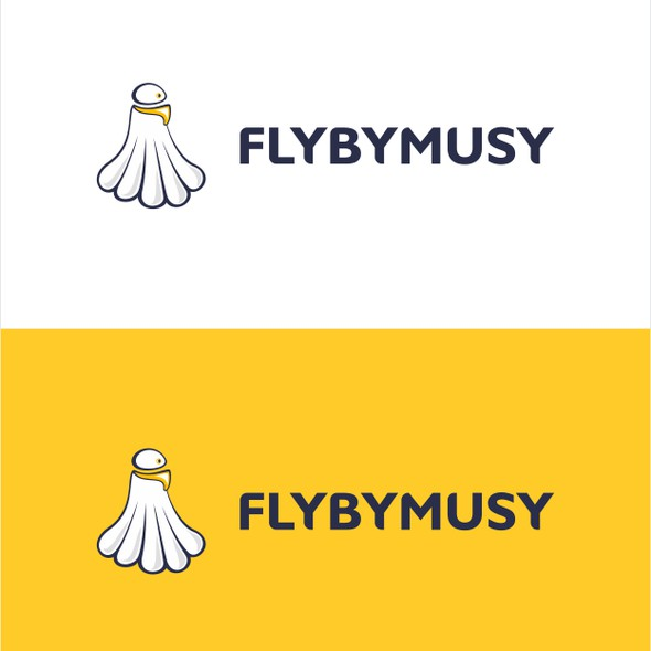 Badminton logo with the title 'flybymusy needs a new logo'