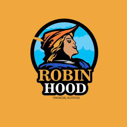 Weird design with the title 'Robin Hood financial services'