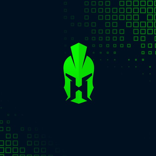 Spartan helmet design with the title 'H spartan helmet logo.'