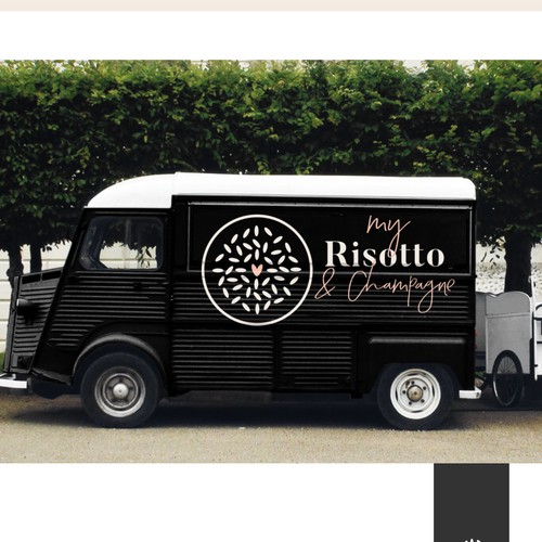 Personal logo with the title 'Foodtruck Logo für MyRisotto '