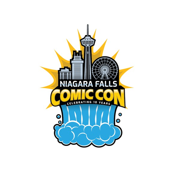 Comic logo with the title 'World's famous and my favorite event Logo. '