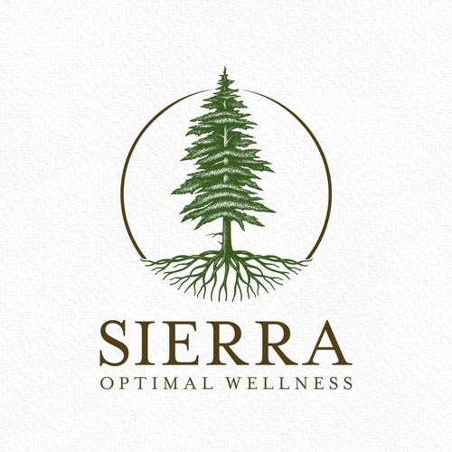 Evergreen logo with the title 'Sierra Wellness '