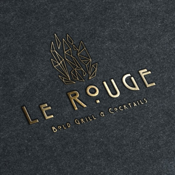 Geometric brand with the title 'Le Rouge'