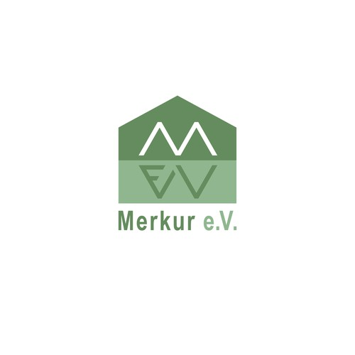 Berlin design with the title 'Merkur e.V.'