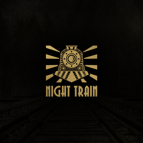 Train design with the title 'Night Train Logo'