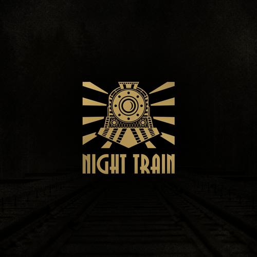 Train design with the title 'Night Train Logo'