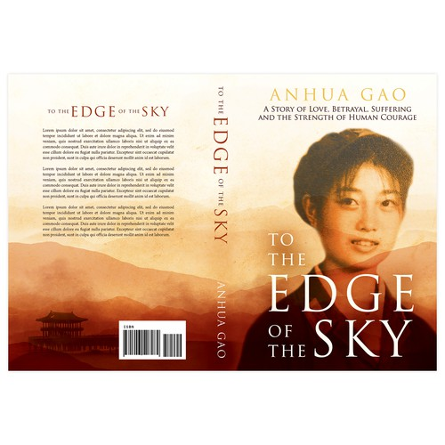 "Memoir book cover with the title 'Book cover for ""The Edge of the Sky""'"