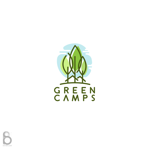 Summer camp logo with the title 'Logo design for Green Camps'