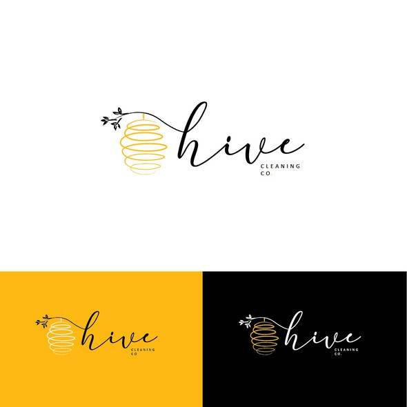 Cleaning and maintenance logo with the title 'Hive'