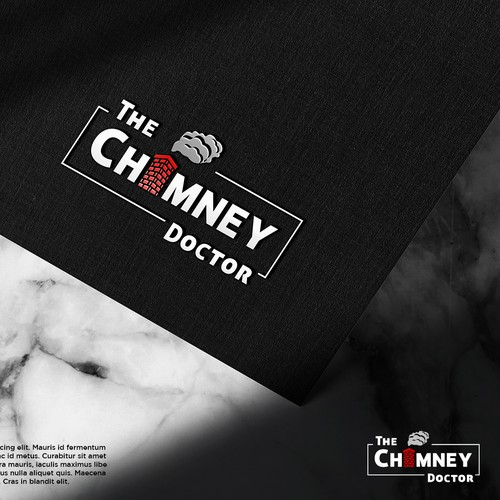 Chimney logo with the title 'The Chimney Doctor'
