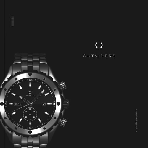Emotional design with the title 'Minimalist mark for disruptive Swiss watch brand'