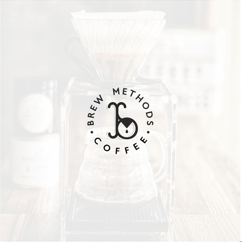 Filter design with the title 'Brewing Coffee Logo Concept'