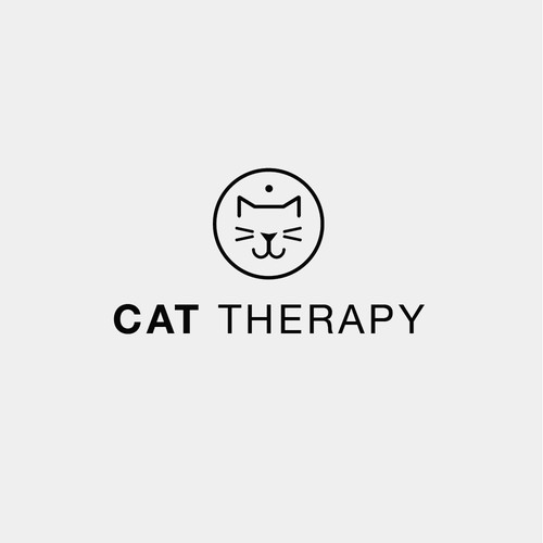 Adoption logo with the title 'Modern minimal logo design for a cat adoption store'