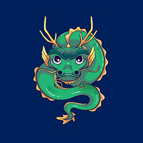 Zodiac design with the title 'Chinnese Zodiac Dragon Character'