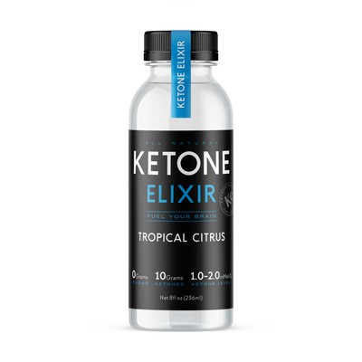Modern & minimalistic label design for Ketone Elixir brand