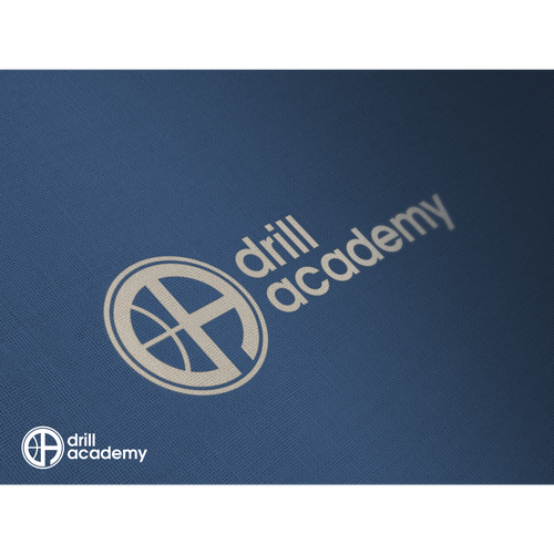 Lettermark logo with the title 'DRILL ACADEMY LOGO (WINNER : 29 MARCH 2016)'