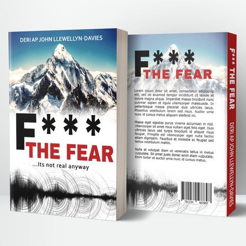 Paperback design with the title 'F*** The Fear book cover'