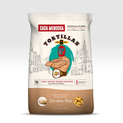 Drawing packaging with the title 'Casa Mendosa'