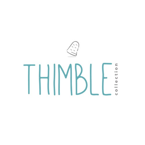 Sewing logo with the title 'Thimble childs clothing store'