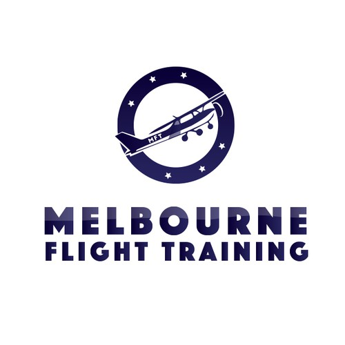 Aeroplane logo with the title 'Logo for Flying club'