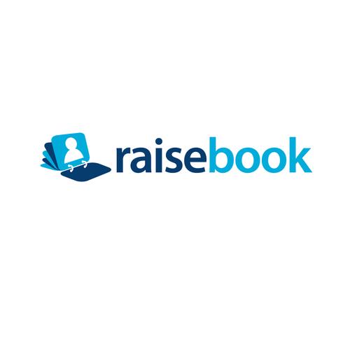 Document logo with the title 'Raisebook logo'