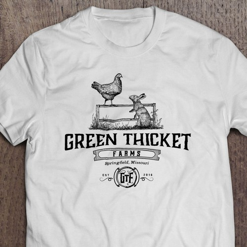 Retro brand with the title 'Hand drawn logo for a family farm'
