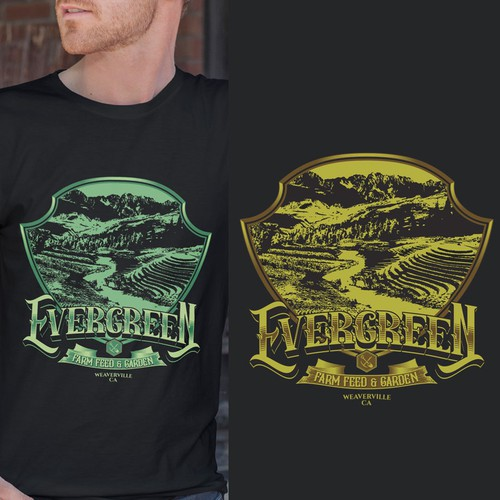 Feed design with the title 'Evergreen'