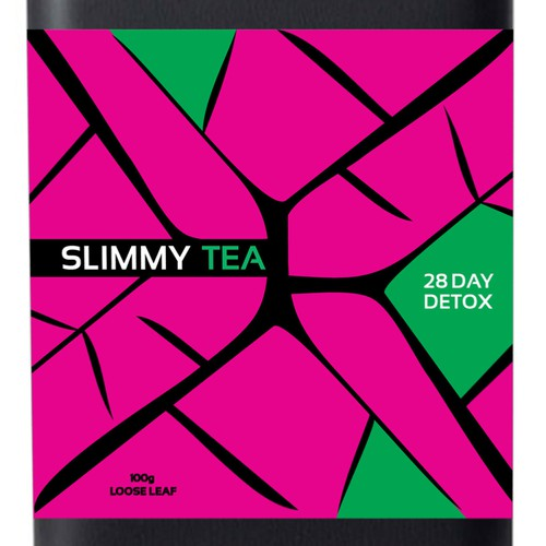 Contemporary label with the title 'Package lable for tea'