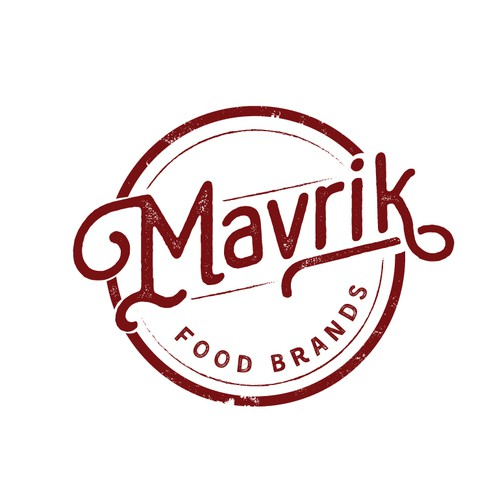 Stamp design with the title 'Food Brand Logo'
