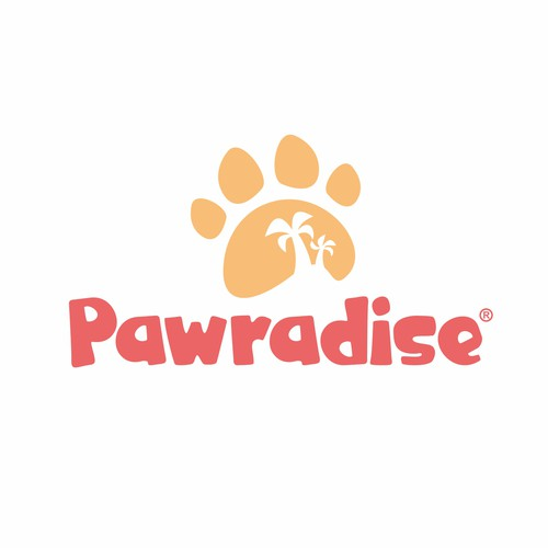 Summer paradise logo with the title 'Logo for Pet Attribute Online Store'
