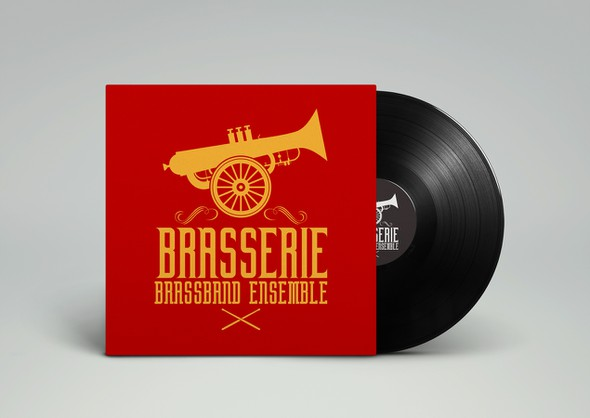 Brass logo with the title 'Brasserie Brassband Ensemble'