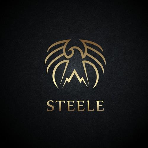 Garment logo with the title 'STEELE mountain biking apparel'