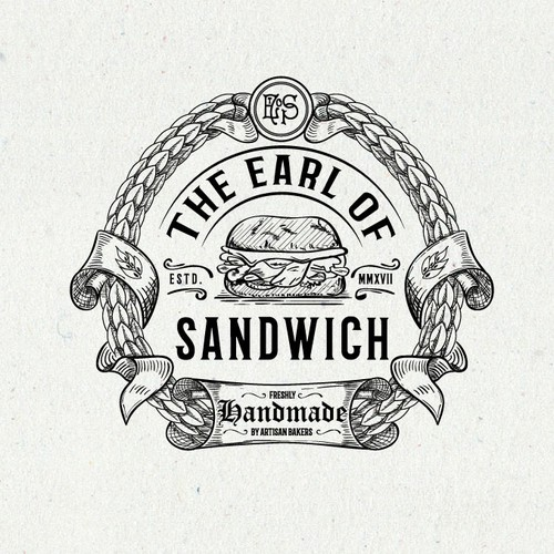 Sandwich shop logo with the title 'Sophisticated logo for artisan sandwich outlet & bakery'