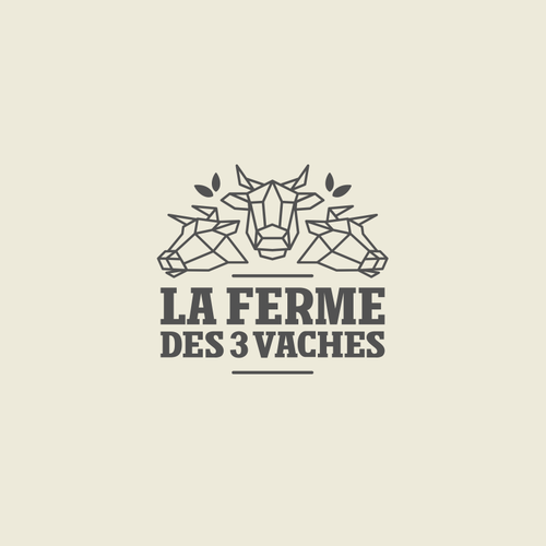 Bull logo with the title 'La Ferme'